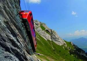 רכבת גלגלי שיניים במעלה הר פילאטוס