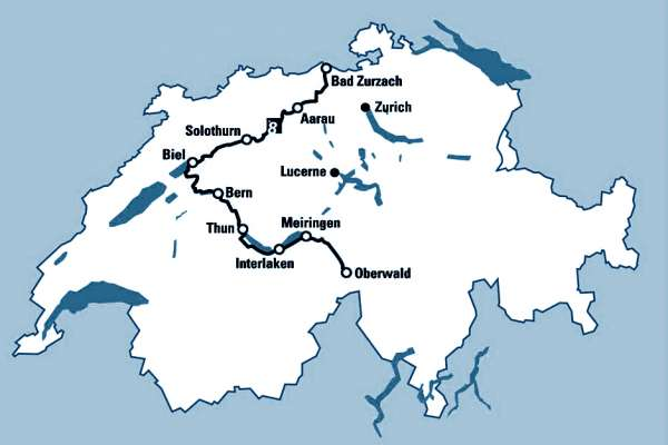 מפת מסע לאורך נהר הארה