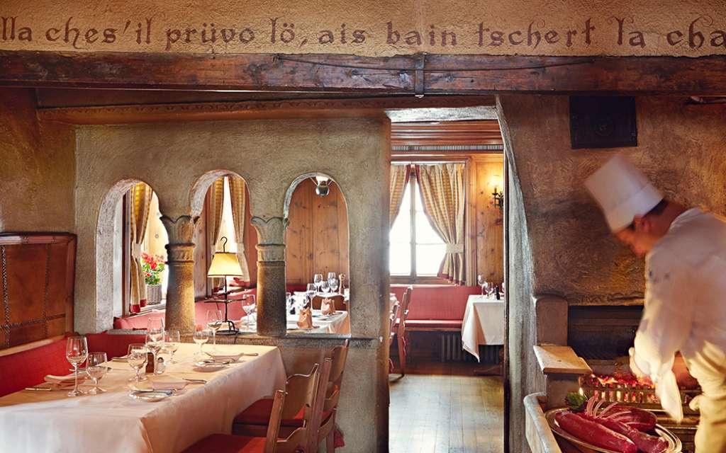מסעדה במלון בדרוטס פאלאס בסן מוריץ