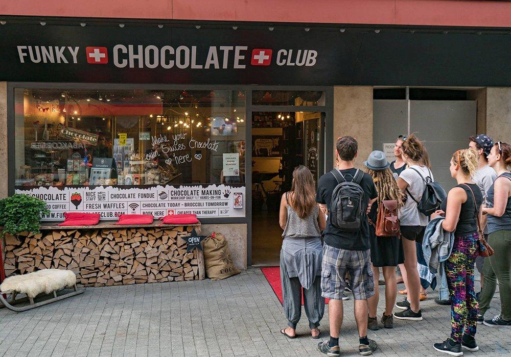 כניסה למועדון השוקולד בסיור תרבות וטעימות באינטרלקן