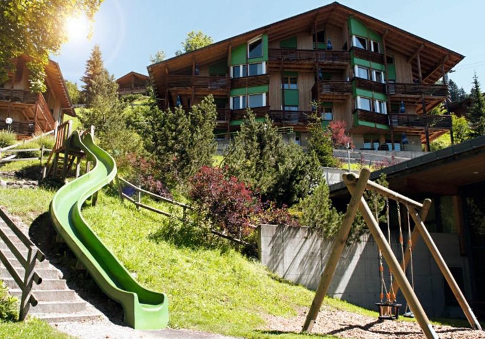 מגלשה בגן בכפר הנופש הסליברג