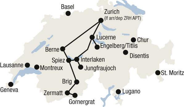 מפת מסע חווית רכבות ההרים
