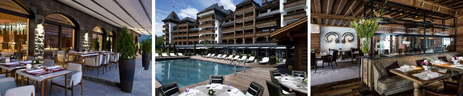 מסעדות ובריכה במלון אלפינה בגשטאט - קומפוזיציה