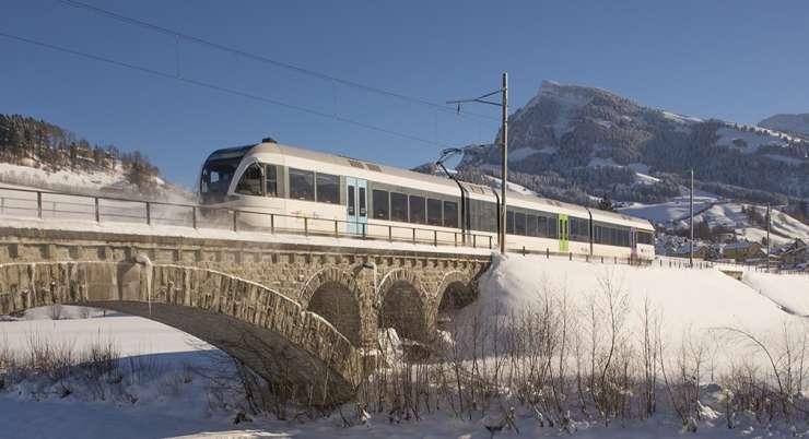 טיול רכבות מסן מוריץ לזרמאט
