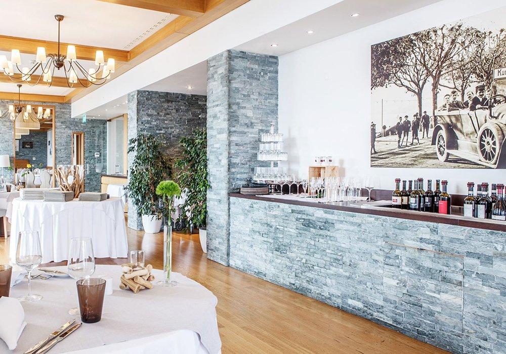 הכנות במסעדה במלון קורהאוס קדמריו בלוגאנו