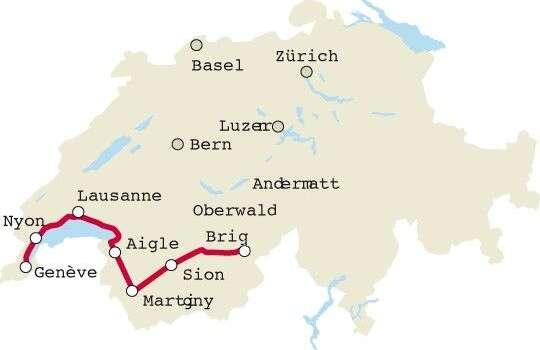 מפת מסע הרכיבה לאורך עמק הרון