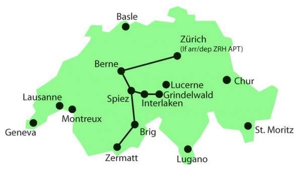 מפת טיול רכבות פסגות העולם