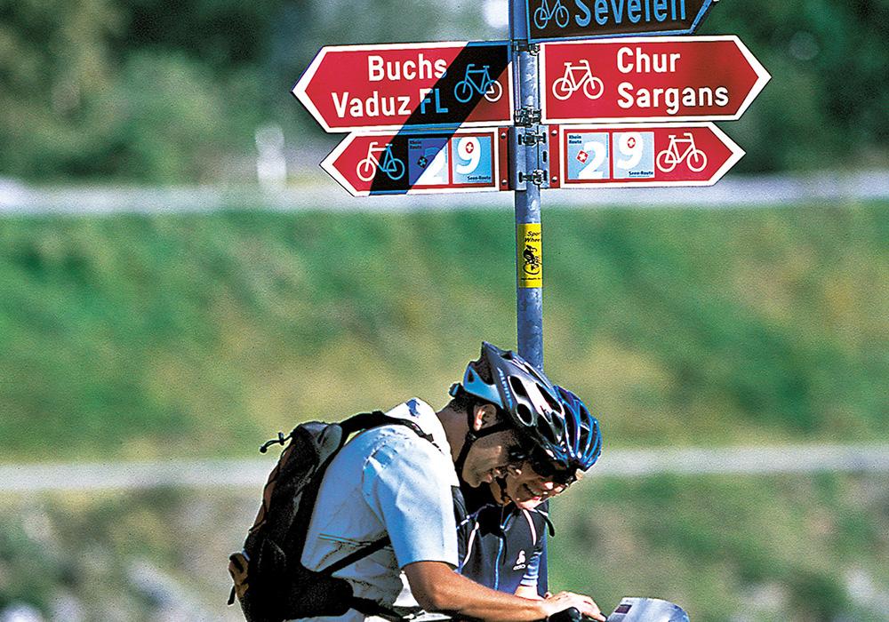 רוכבים בצומת דרכים במסלול הריין