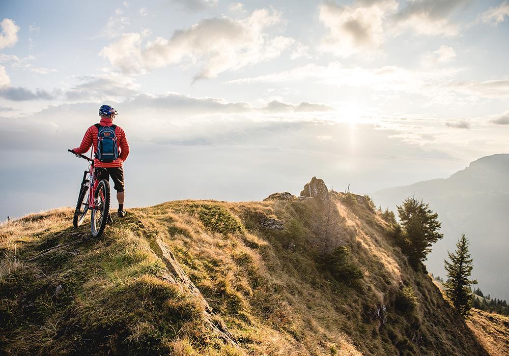 רוכב על פסגת הר פלומברג