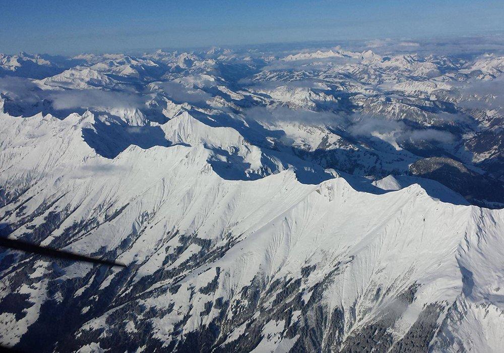 נוף פנורמי של אזור היונגפראויוך מהמטוס