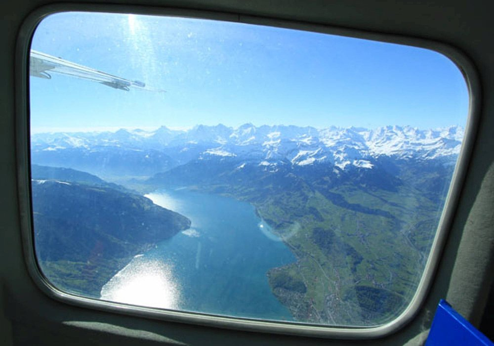 תמונה מחלון המטוס
