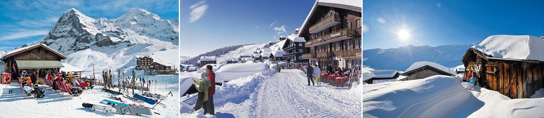תמונות אתרי סקי ונופש בחורף