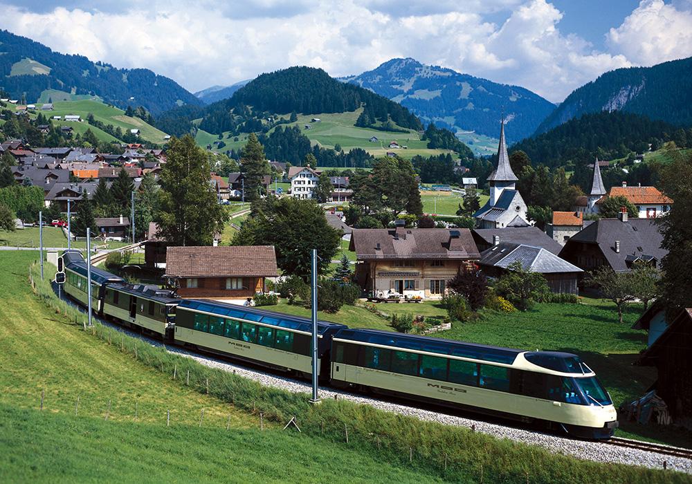 הרכבת למונטרה מרכס האלפים הברניים