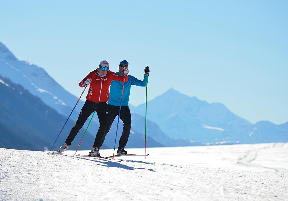 גולשי סקי באזור דאבוס