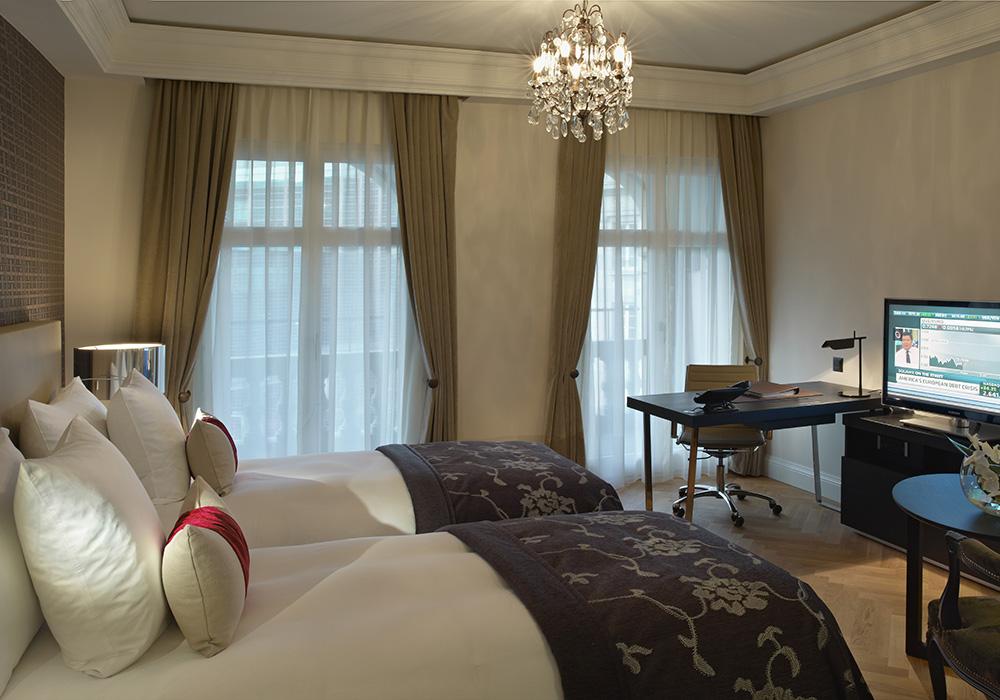 חדר שינה במלון שווייצרהוף בברן