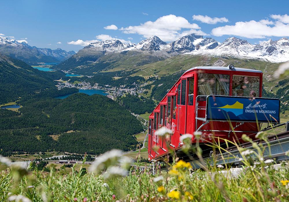 רכבת הרים במעלה Muottas Muragl