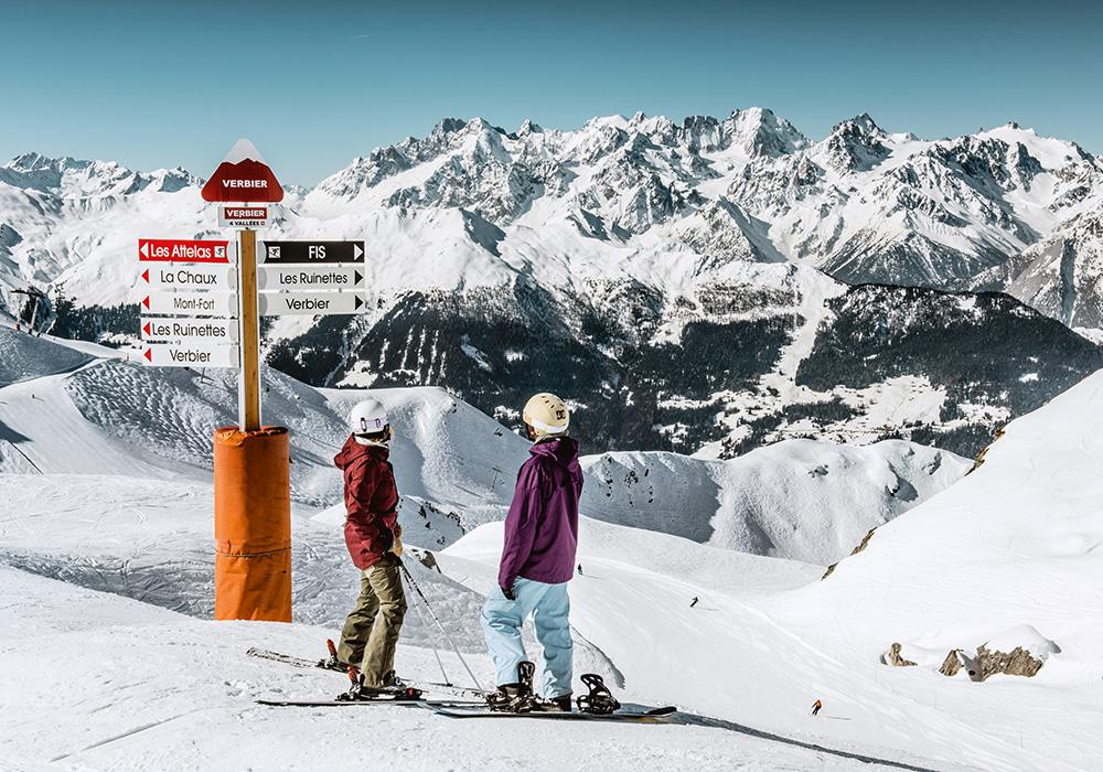 גולשים באתר הסקי בוורבייר