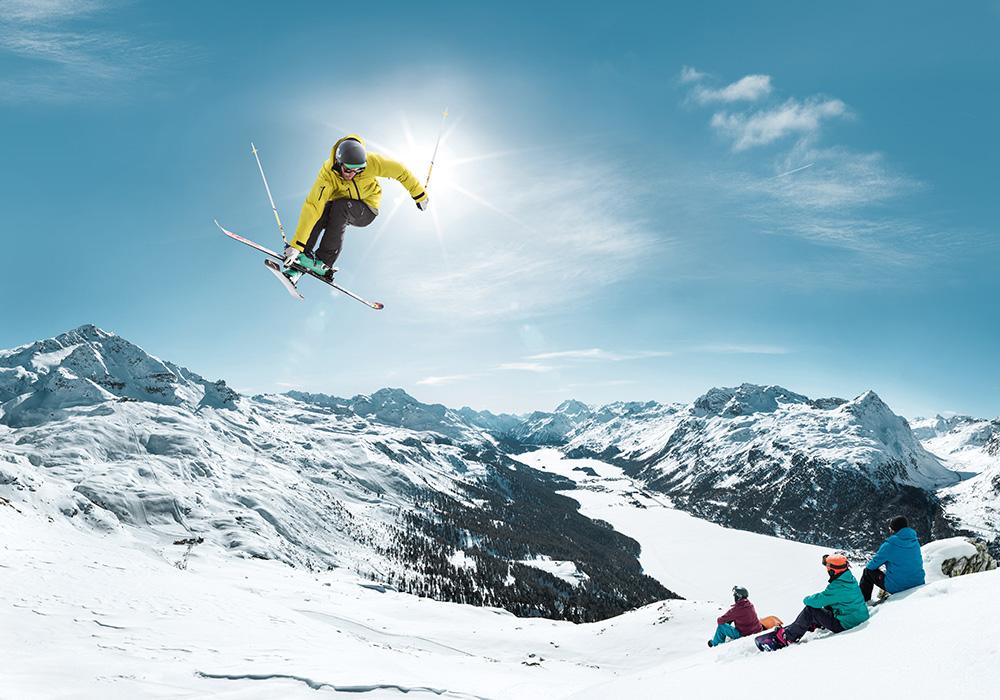 סקי אקסטרים באירוע ספורט בגראובינדן