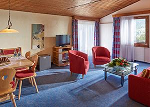 סלון בחדר במלון ויקטוריה בעיירה ווילאר