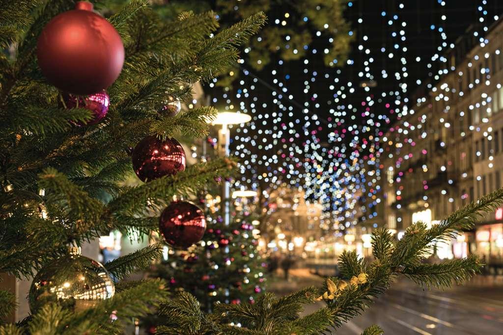 קישוטי חג המולד בעיר ציריך