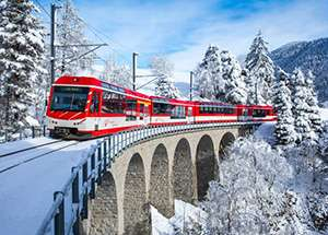 טיולי רכבות הרים בחורף